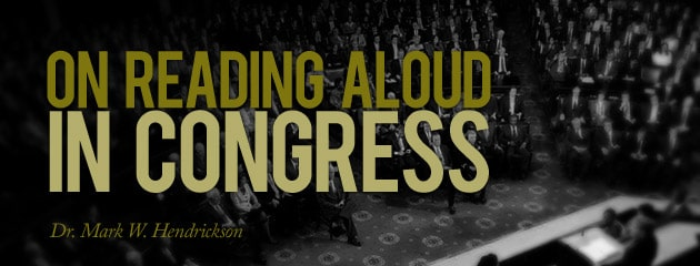 , On Reading Aloud in Congress