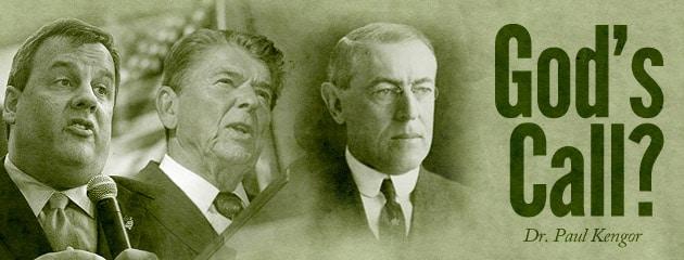 , God's Call? On Gov. Christie, Ronald Reagan, and Woodrow Wilson