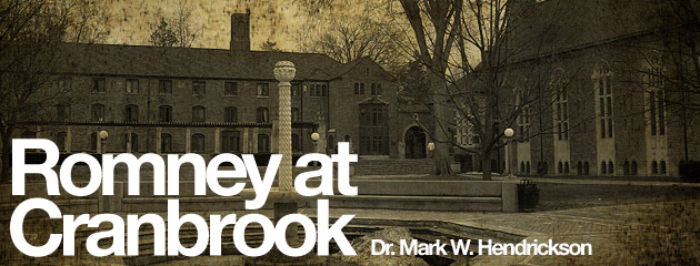 , Mitt and Me: Romney at Cranbrook—a Personal Glimpse