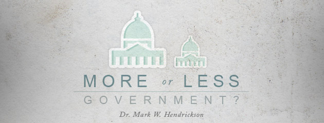 , The Question of More or Less Government