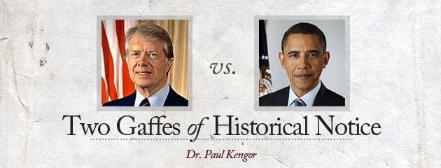 , Carter vs. Obama: Two Gaffes of Historical Notice
