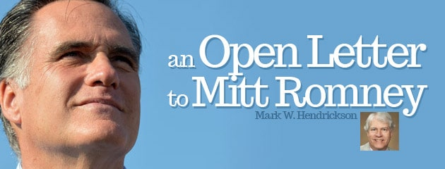 , An Open Letter to Mitt Romney