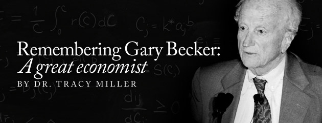 , Remembering Gary Becker: A great economist
