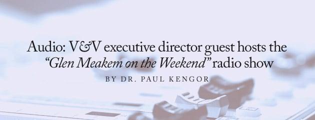 ", AUDIO – V&V executive director guest hosts the ""Glen Meakem on the Weekend"" radio show"