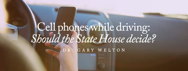 , Cell phones while driving: Should the State House decide?