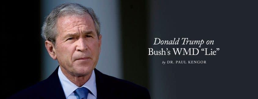 ", Donald Trump on Bush's WMD ""Lie"""