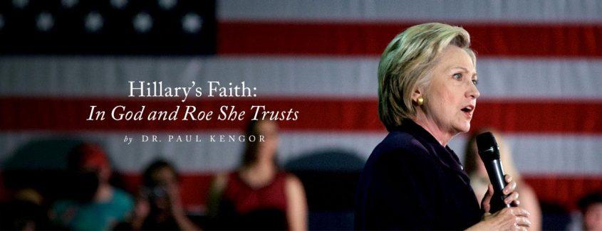 , Hillary's Faith: In God and Roe She Trusts