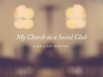 My Church as a Social Club