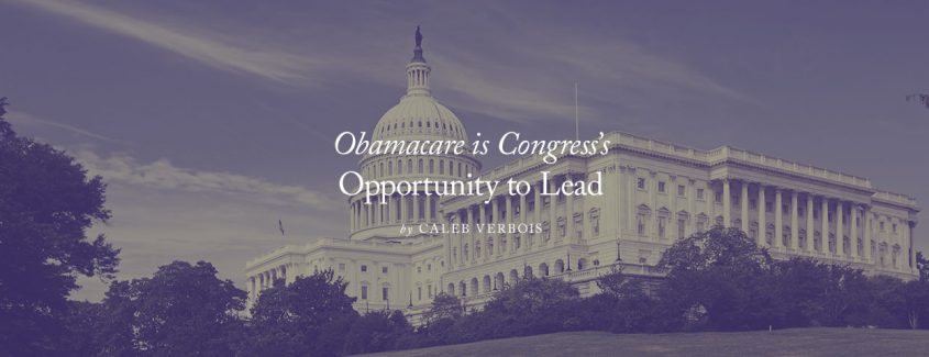 , Obamacare is Congress's Opportunity to Lead