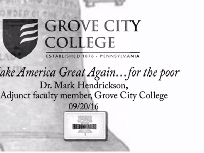VIDEO — Make America Great Again … For the Poor