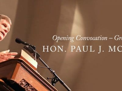 2017-2018 Opening Convocation – Grove City College – Hon. Paul J. McNulty '80