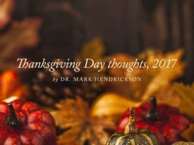 , Thanksgiving Thoughts 2008: The Challenge of Affluence