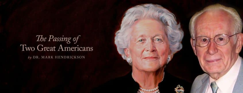 , The Passing of Two Great Americans