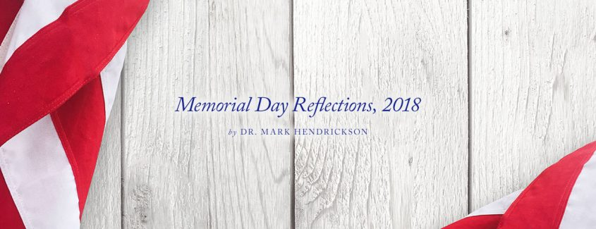 , Memorial Day Reflections, 2018