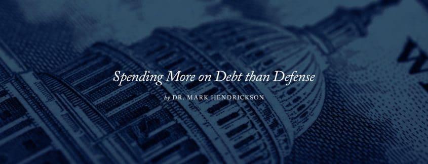 , Spending More on Debt than Defense