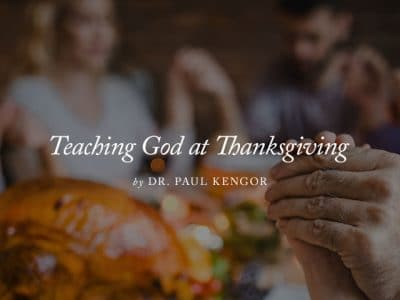 Teaching God at Thanksgiving