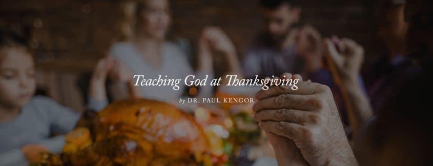 , Teaching God at Thanksgiving