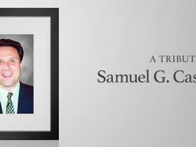 A Tribute: Samuel G. Casolari '83